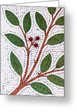 Mosaic Picture Of Tree Branch  Greeting Card