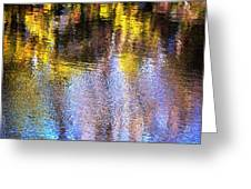 Mosaic Reflection At The River Greeting Card