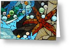 Mosaic Stained Glass - Low Tide Greeting Card