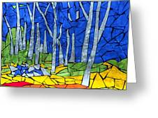 Mosaic Stained Glass - My Woods Greeting Card