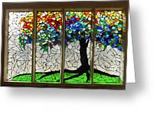 Mosaic Stained Glass - Roots Greeting Card