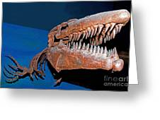 Mosasaur Tylosaurus Proiger Greeting Card