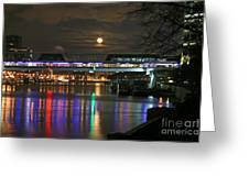 Moscow At Night In Winter Greeting Card