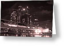 Moscow At Night Greeting Card