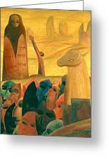 Moses And The Masks Greeting Card