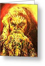 Moses At The Burning Bush Greeting Card