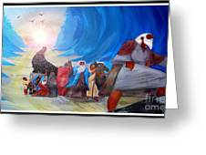 Moses Leading Through The Red Sea Greeting Card