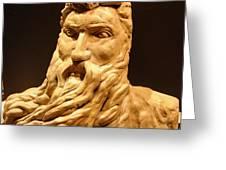 Moses Michelangelo  Greeting Card by Joseph Hawkins
