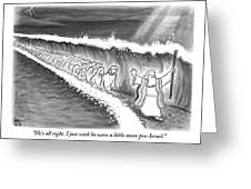 Moses Parting The Sea Greeting Card