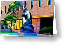Moses Statue At The Main Library Greeting Card