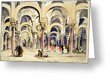 Mosque At Cordoba, From Sketches Greeting Card