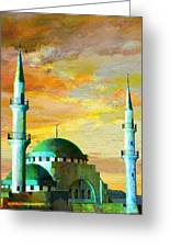 Mosque Jordan Greeting Card by Catf