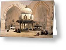 Mosque Of Sultan Hassan Greeting Card