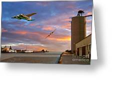Mosquitoes Over Port Stanley Greeting Card