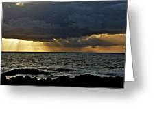 Moss Beach Sunset Storm Greeting Card by Elery Oxford