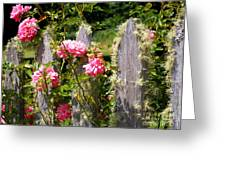 Moss Fence Greeting Card