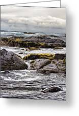 Moss Rocks Hawaii Greeting Card