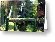 Mossy Fountain Greeting Card
