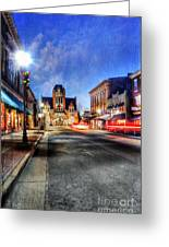 Most Beautiful Small Town In America At Christmas Greeting Card