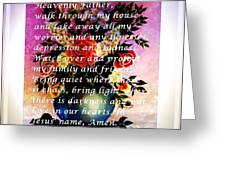 Most Powerful Prayer With Flowers In A Vase Greeting Card
