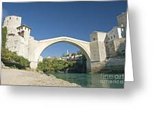 Mostar Bridge In Bosnia Greeting Card