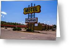 Motel Capitan Greeting Card