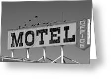 Motel For The Birds Greeting Card