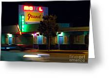Motel Grand Greeting Card
