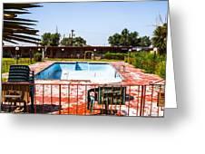 Motel Pool 3 Greeting Card