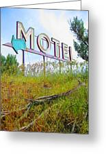 Motel Sign - Arrow 2 Greeting Card