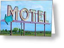 Motel Sign - Arrow Greeting Card