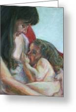 Mother And Child - Detail Greeting Card