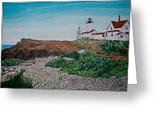 Mother Ann And Eastern Point Light Greeting Card