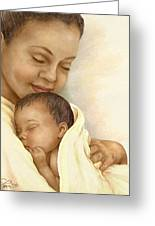 Mother Greeting Card by Beverly Levi-Parker