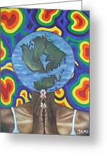 Mother Earth The Beginning Of Time Greeting Card