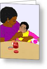 Mother Feeding Her Baby Greeting Card