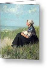 Mother In The Dunes Greeting Card