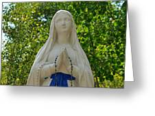 Mother Mary At Mother Cabrini Greeting Card