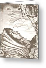 Mother Mary Drawing Greeting Card