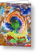 Mother Nature In Portrait Greeting Card