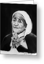 Mother Teresa Greeting Card by Anthony Falbo