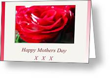 Mothers Day A Red Rose Greeting Card