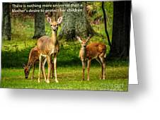 Mother's Protection Greeting Card