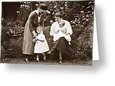 Mothers With Children Greeting Card