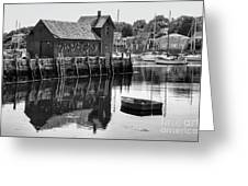 Motif 1 - Bw Greeting Card