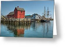 Motif #1 And The Pirate Ship Formidable Greeting Card