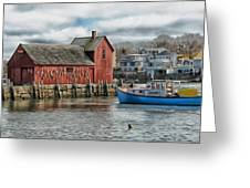 Motif #1 Watches Over The Amie V1 Greeting Card