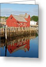 Motif 1 With Reflection Greeting Card