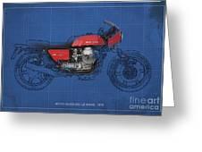 Moto Guzzi 850 Le Mans 1976 Greeting Card