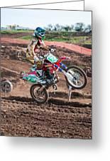 Motocross Rider Greeting Card